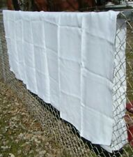 1940'S White Vintage Banquet Daisy Damask Design 100% Linen Tablecloth