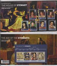 GB 2010 HOUSE OF STEWART KINGS & QUEENS PRESENTATION PACK 439 & MS SG:3046-3052