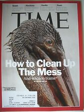 TIME MAGAZINE JUNE 21 2010 HOW TO CLEAN UP THE MESS KEPT COMPLETE AND LIKE  NEW!