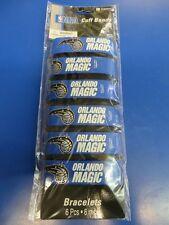 Orlando Magic NBA Pro Basketball Sports Party Favor Blue Rubber Wrist Cuff Bands