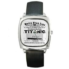 TITANIC PUBLICITY ADVERT WHITE STAR LINE SQUARE WRISTWATCH **SUPERB GIFT ITEM**