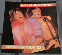 1982 Rolling Stones Concert Program European Tour Jagger Richards