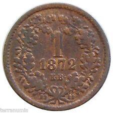 x344 HUNGARY 1 KRAJCZAR 1872 KM#441 coin Ungarn