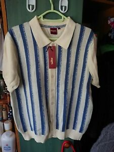 MERC LONDON WILMOT KNIT SHORT SLEEVE TOP SIZE LARGE PTP 22 inches.