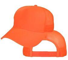 Big Size Safety Orange Trucker Mesh Cap  2XL - 4XL Adjustable BIGHEADCAPS