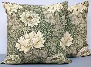 Large Vintage Sanderson Linen Cushion Cover William Morris Chrysanthemum 50x50cm