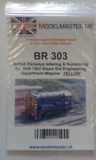 More details for sheet of decals for br 1948-65 engineering dept. wagons modelmaster mmbr303 l1