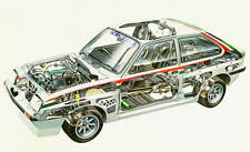 Vauxhall Chevette HSR rally car large Cutaway promo poster