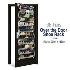 36 Pair Over Door Hanging Shoe Rack Shelf Organiser Hook Holder Storage Stand