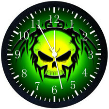 Skull Black Frame Wall Clock Nice For Decor or Gifts E168