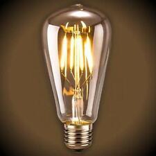 6-Pack Vintage Led Filament St19 Edison Bulb - 6 Watt - Clear - 2700k!