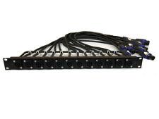 Custom Patch Panel Amplifier Rack Audio PowerCon, Speakon, XLR,1/4, RCA, Banana