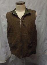 Mother Freedom Brown Tweed Reverible Nylon Quilted Zip Front Vest Men's M/Medium