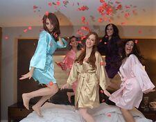 Bridal Gift  Women's SILK Kimono Robes Bathrobe BRIDE, BRIDESMAID S-XXL