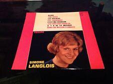 """LP 25 cm-10"""" - SIMONE LANGLOIS - Alors - PHILIPS 76532"""
