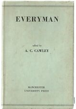 Everyman - edited by A C Cawley - hb/dw 1961 - Old and Middle English Text
