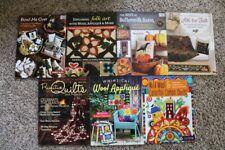 💥LOT OF 7 Bonnie Sullivan Patchwork Place Wool Quilting Applique Pillows Books