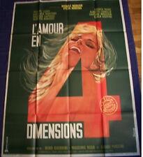 LOVE IN FOUR DIMENSIONS French Grande movie poster 47x63 MICHELE MERCIER KOSCINA