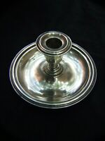 ANTIQUE CHAMBER SILVER CANDLESTICK WALKER & HALL EPNS SHEFFIELD ENGLAND 1900'S
