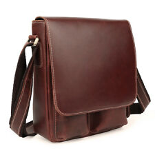 Retro Men's Genuine Leather Cross Body Messenger Shoulder Bags Satchel Briefcase