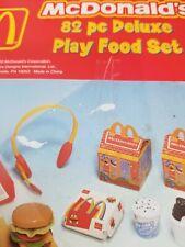 2002 Mcdonald 82 Piece Deluxe Play Food Set Rare
