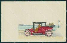 Art Nouveau Car OPF postcard cartolina QT5850