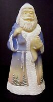 Fenton Glass  Northern Lights Santa Limited Edition Mint In Box