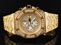 Men's Jewelry Unlimited Jojino Joe Rodeo Gold Lab Diamond Chronograph Watch 43MM