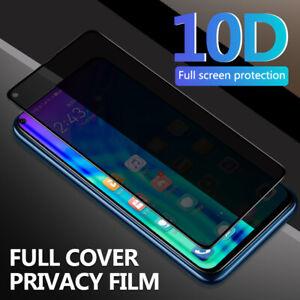 For Huawei Honor 20 P30 P20  Nova 5 10D Full Anti-Spy Tempered Glass Screen Film