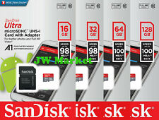 SanDisk Ultra 32GB 64GB 128GB Micro SD Card C10 SDHC SDXC Flash Memory TF Card