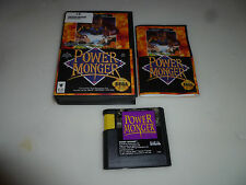 SEGA GENESIS VIDEO GAME POWER MONGER W CASE & MANUAL