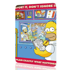 """METAL SIGN The Simpsons """"Report It"""" Security Collection 11 Decor Wall Art RUSTED"""