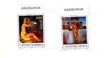 YUGOSLAVIA Sc 2206-7 NH issue of 1993 - ART