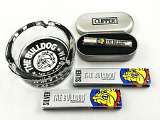 Clipper *The Bulldog Amsterdam* Metall Silber Feuerzeug Box (ovp) Premium Set