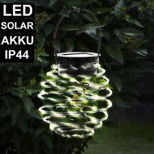 LED Design Solar Hänge Spiral Grundstück Lampe Garten Park Leuchte gedreht