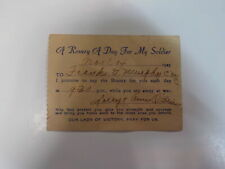 New listing WWII Document 1943 A Rosary A Day For My Soldier Navy Sailor Frank Murphy WW2