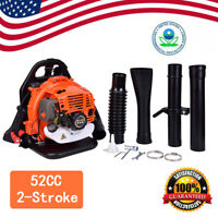 3.2HP 52CC Gas Leaf Backpack Powered Blower EPA Debris 2Stroke w/Padded Harness