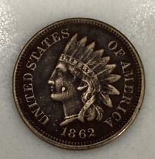 1862 Indian Head Penny Razor Sharp Condition