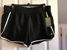 Women's Tek Gear Knit Waistband Running Shorts BNWTS  Sz 1X Black / white
