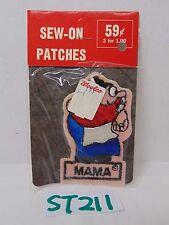 VINTAGE 1970'S EMBROIDERED SEW-ON-PATCH USA CARTOON COMIC NOS RARE MAMA MOM