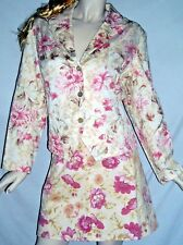 Coldwater Creek 100% Cotton Floral Skirt & Jacket Size PXL Ships Free to the USA