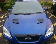 FOCUS RS MK3 LATEST STYLE GLOSS BLACK BONNET VENTS (2015 UP)