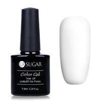 UR SUGAR 7.5ml Pure White UV Gel Polish Base Soak Off Nail Art LED Gel Varnish
