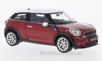 Mini Cooper S Paceman - metallic-rot/weiss - 1:24 Welly