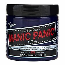 MANIC PANIC Classic Cream Rockabilly® Blue Semi-Permanent 4 oz Vegan Hair Dye.