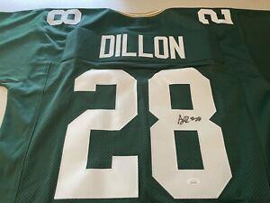 AJ Dillon Signed Jersey Packers Beckett COA