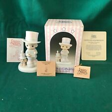 """New ListingPrecious Moments 1986 """"102938"""" """"God Bless America"""" New In Box -Mint With Tags"""