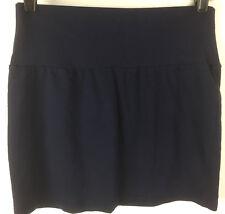 Express Women's Size Small S Short Mini Skirt Navy Blue Cute Stretch Pencil