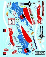 Colorado Decals 1/24 PEUGEOT 207 S2000 #8 MONTE CARLO 2009