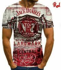 Jack Daniels Whiskey 3D Print Casual T-Shirt Women Men Short Sleeve Tops 3B-3